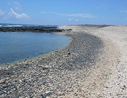 玄武岩礫灘